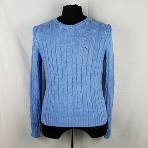 Vineyard Vines Sky Blue Cable Knit Sweater XL